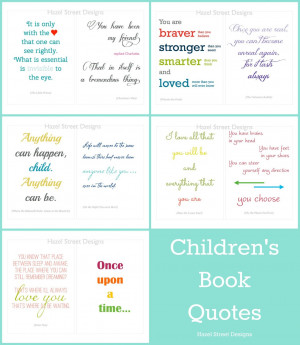 New Item {Children's Book Quotes - Set #2}