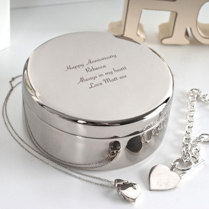 Engraved Circular Trinket Box