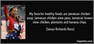 My favorite healthy foods are Jamaican chicken soup, Jamaican chicken ...