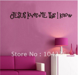 ... -Jesus-Loves-Me-This-I-Know-English-Quote-Vinyl-Wall-Decals-60cm.jpg