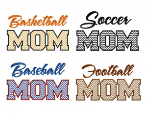 Sport Mom Design Appliques