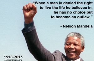Nelson Mandela, who died yesterday at age 95, was a South African anti ...