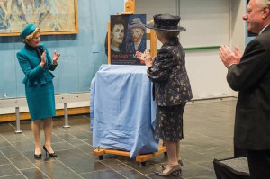 Queen of Norway and Princess Beatrix of the Netherlands at opening ...