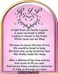 Rest In Peace RIP Graphics - Poems For Mom or Grandma | NetNax More