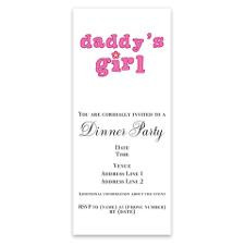 Daddy's Girl Invitations for
