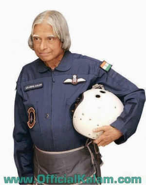 Missile Man in Airforce Uniform : www.OfficialKalam.com