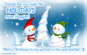 christmas ecard with snowman, christmas friends greeting card ...