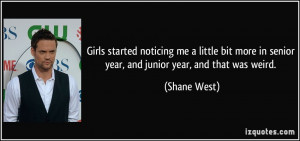 Senior Quotes For Girls Girls started noticing me a