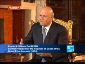 de Klerk, former president of South Africa
