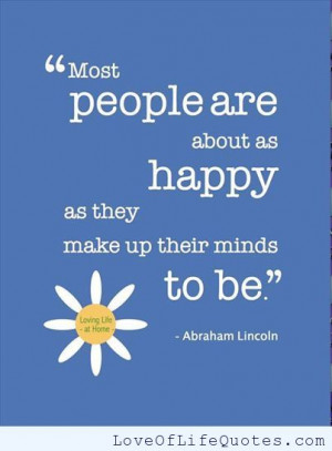 Abraham Lincoln Quote About