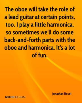 Jonathan Reuel - The oboe will take the role of a lead guitar at ...