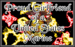 Proud Girlfriend Of Marine