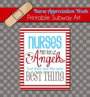 Brighten a Nurse's Day with this Free Printable Subway Art