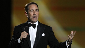 Jerry Seinfeld performs during Oprah's farewell. Source: AP
