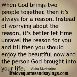 When God brings two people together