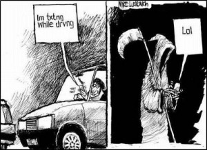 Pic of the day: Texting while driving