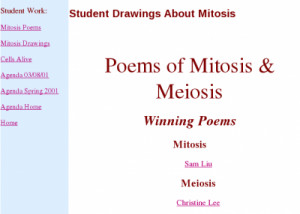 Poems of Mitosis & Meiosis