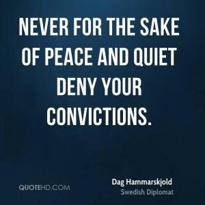 Dag Hammarskjold Peace Quotes