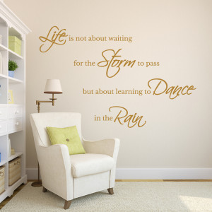 ... → Wall Stickers → Inspirational Wall Quote – Life is not