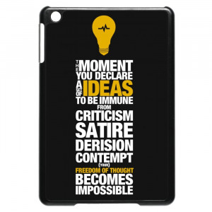 Freedom Of Thought Quotes iPad Mini Case