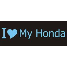 Fun Bumper Stickers Decals I Love My Honda Lexus Mini C
