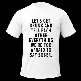 Let's Get Drunk - Quote Men's T-Shirt ~ 316