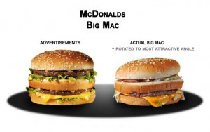 So when I take a look at these following images of fast food ...