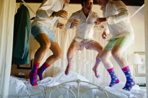 Groom & Groomsmen getting ready - hilarious! Just like the ladies ...