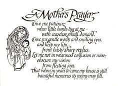 mother and daughter sayings and quotes | Mothers Prayer an open print ...