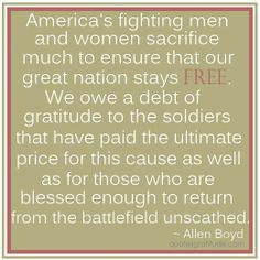Military Hero Quotes Allen boyd, quote, military