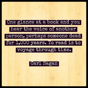 One glance at a book and you hear the voice of another person, perhaps ...