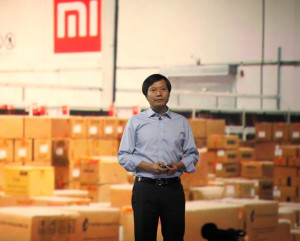 Lei jun Xiaomi CEO Lei Jun speaks during a product launch on May 15