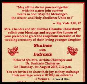 Details of Bride , Groom And Their Parents