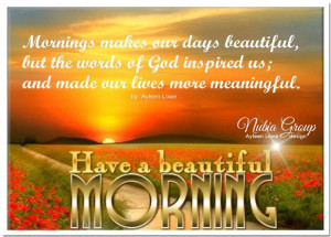 Good Morning Quotes Christian