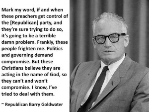 Barry Goldwater, old-school conservative Republican