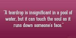Insignificant Quotes Teardrop insignificant 21