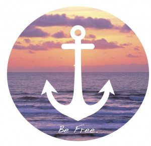 Be Free... #anchors #quotes #words #sunset #beach #ocean #nautical