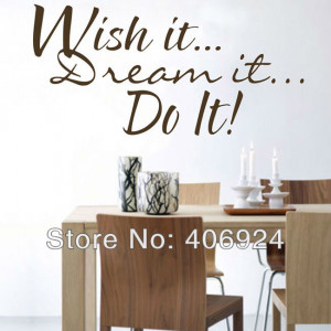Wholesale Removable Do It Wall Quote Decals Stickers Decor Living Room ...