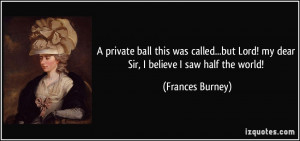 More Frances Burney Quotes