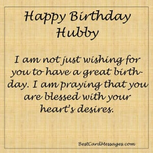 Husband Birthday Card Messages