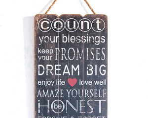 Inspirational Quote, Inspirational Sign, Home Decor Wooden Sign ...
