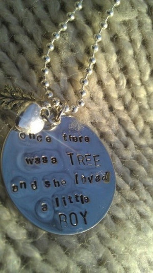 The Giving Tree quote Pendant (Shel Silverstein)