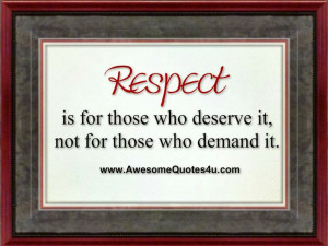 Funny Sayings About Respect | Awesome Quotes