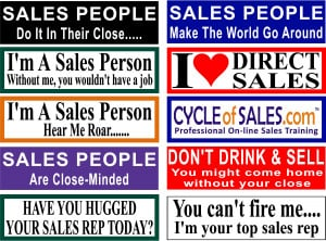 Sales Bumper Sticker Combo Pack (Free shipping Via US Mail)