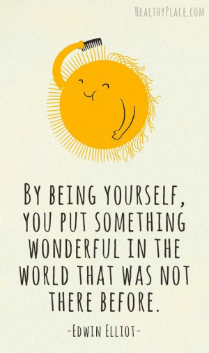 sun yellow Be yourself positive cute quotes life quotes teen quotes ...