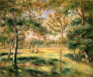 Bild: Pierre-Auguste Renoir - Im Baumgarten