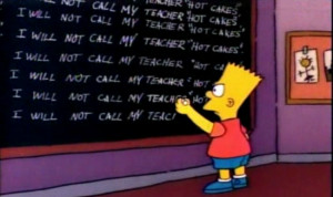 See All 288 Bart Simpson Chalkboard Quotes