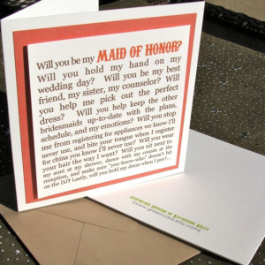 ... www.etsy.com/listing/41384078/will-you-be-my-maid-of-honor-card Like