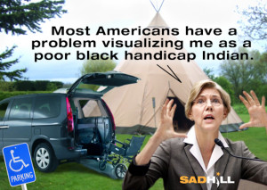 elizabeth warren indian native american poor black handicap sad hill ...