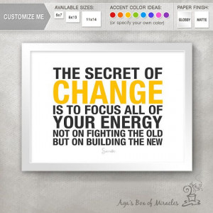 Personal Growth Transformation CHANGE Inspirational Quote Print ...
